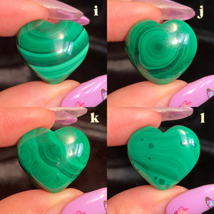 malachite hearts (I,J,K,L)