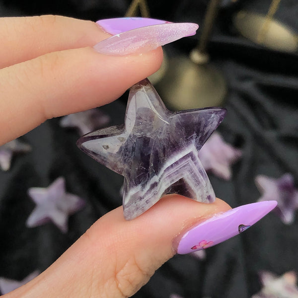 amethyst star and moon