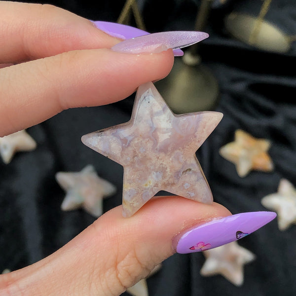 flower agate star and moon