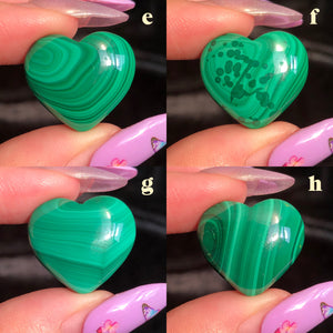 malachite hearts (E,F,G,H)