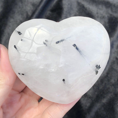 tourmalinated quartz heart C