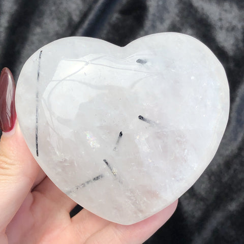 tourmalinated quartz heart B