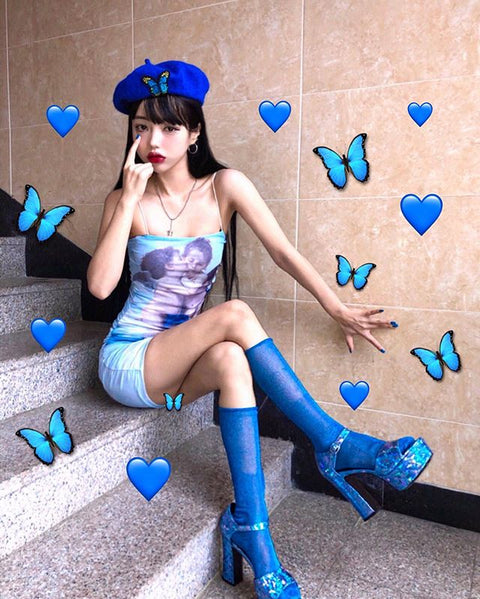Butterfly embroidered beret KF9548