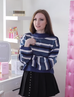Oversize Blue Striped Sweater KF50008