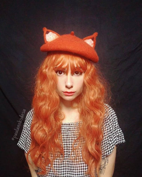 ORANGE  corn long hair wig KF24090