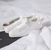 White canvas shoes  KF81139