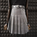 Vintage Belt Pleated Skirt + Belt KF2245
