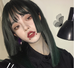 Dark green bangs cut wig KF81125