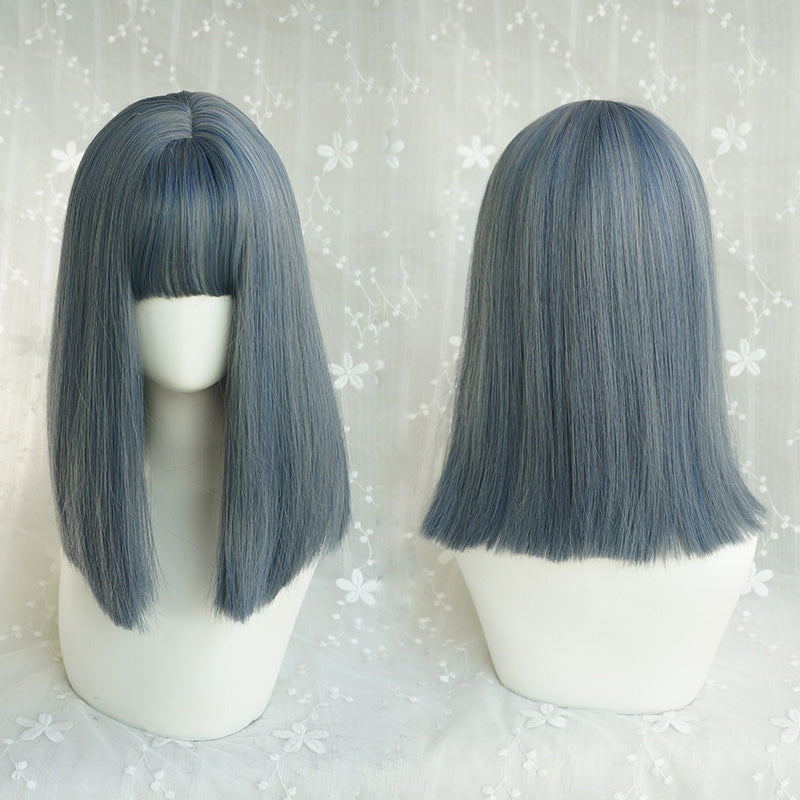Blue-gray long hair KF81078