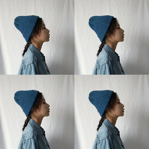 Chic knit hat KF24070
