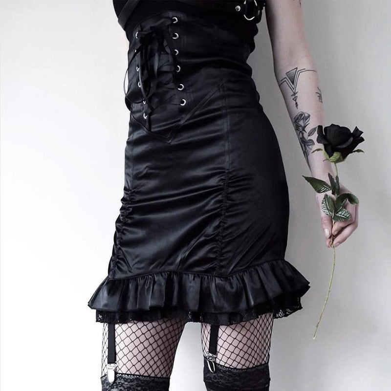 Dark punk skirt KF90072