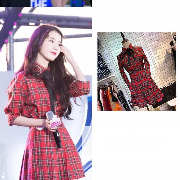 Ulzzang plaid three-piece KF90105