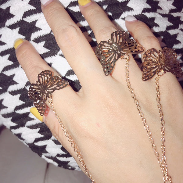 Butterfly Bracelet Ring KF90618