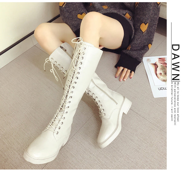 Lace-up chunky boots KF90043