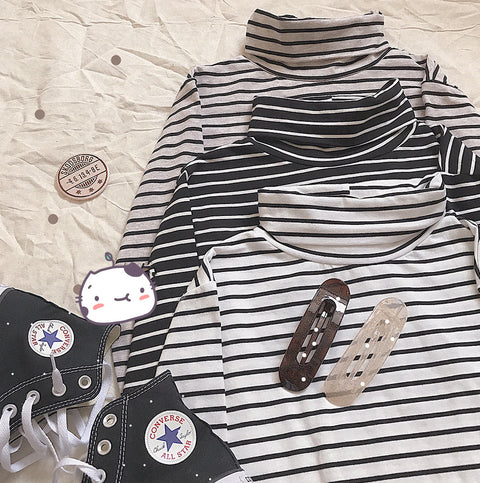 Striped long-sleeved T-shirt KF81291