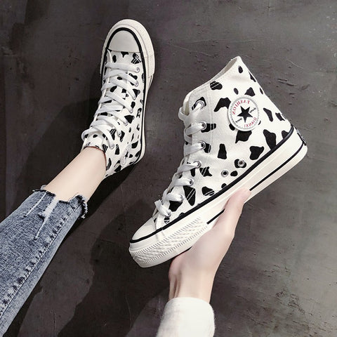 Cow canvas shoes KF90617