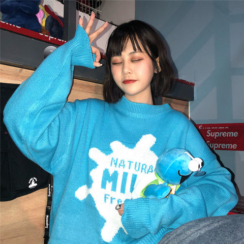 Harajuku Blue Sweater KF9485