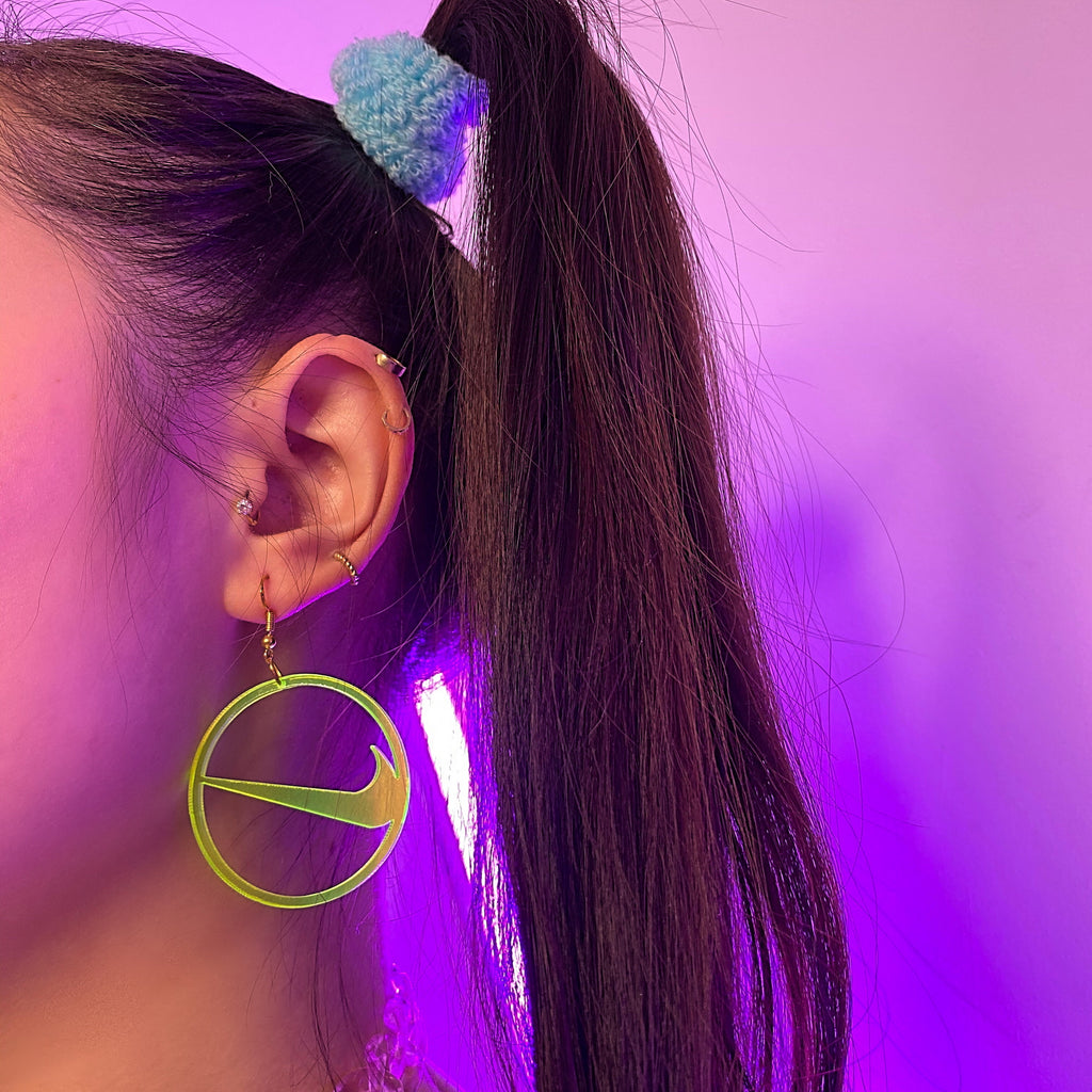 Fluorescent circle earrings KF81611