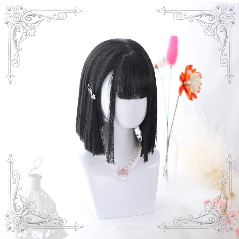 Medium long straight wig KF90753