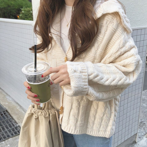 Chic Sweater Coat KF9418
