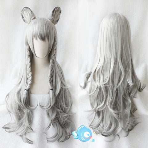 Cosplay long roll wig KF9445