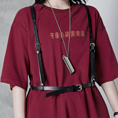 Metal PU belt strap KF81122