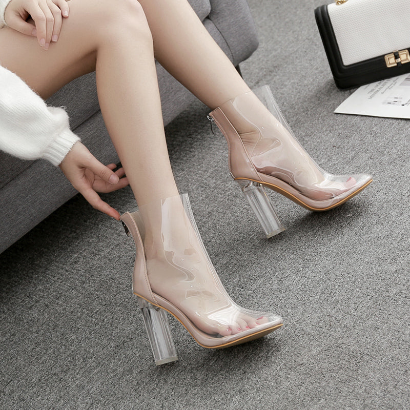 Transparent high heels KF90322