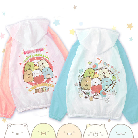 Cartoon anime sun protection clothing KF9198