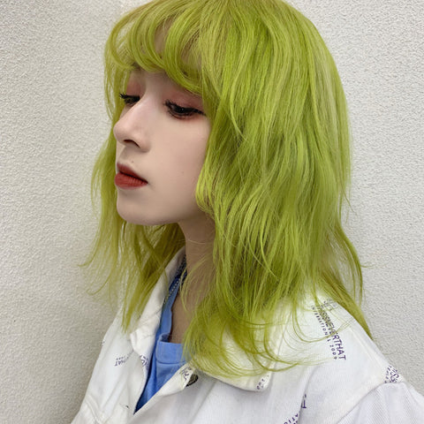 Green short roll wig KF9226