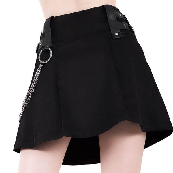 Punk zipper skirt KF90104