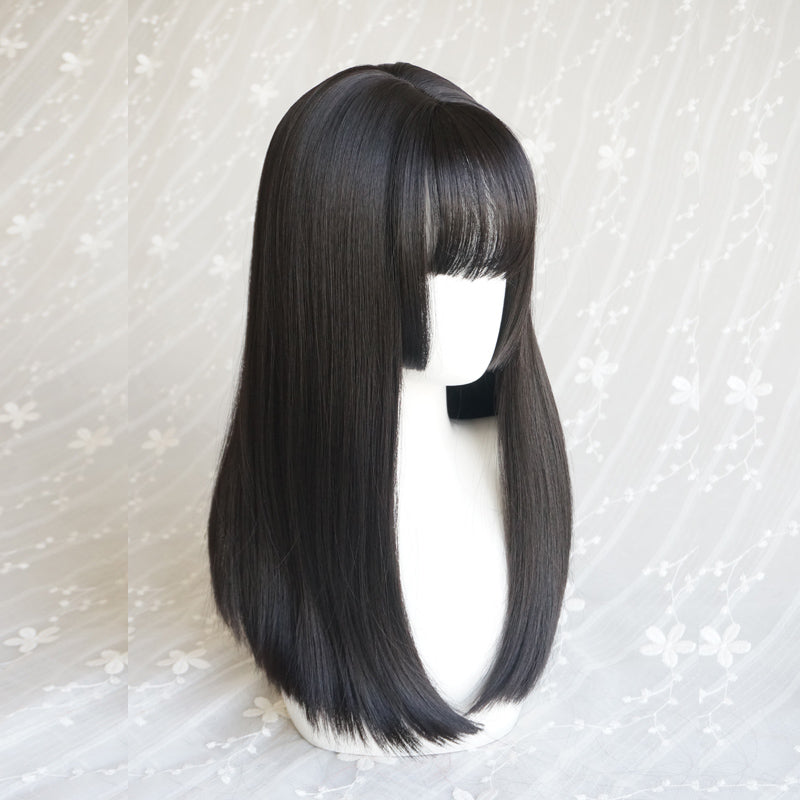 Medium long straight wig KF90276