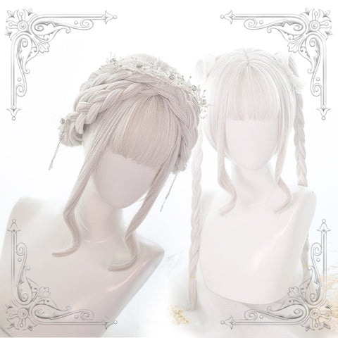 White long roll wig KF90768