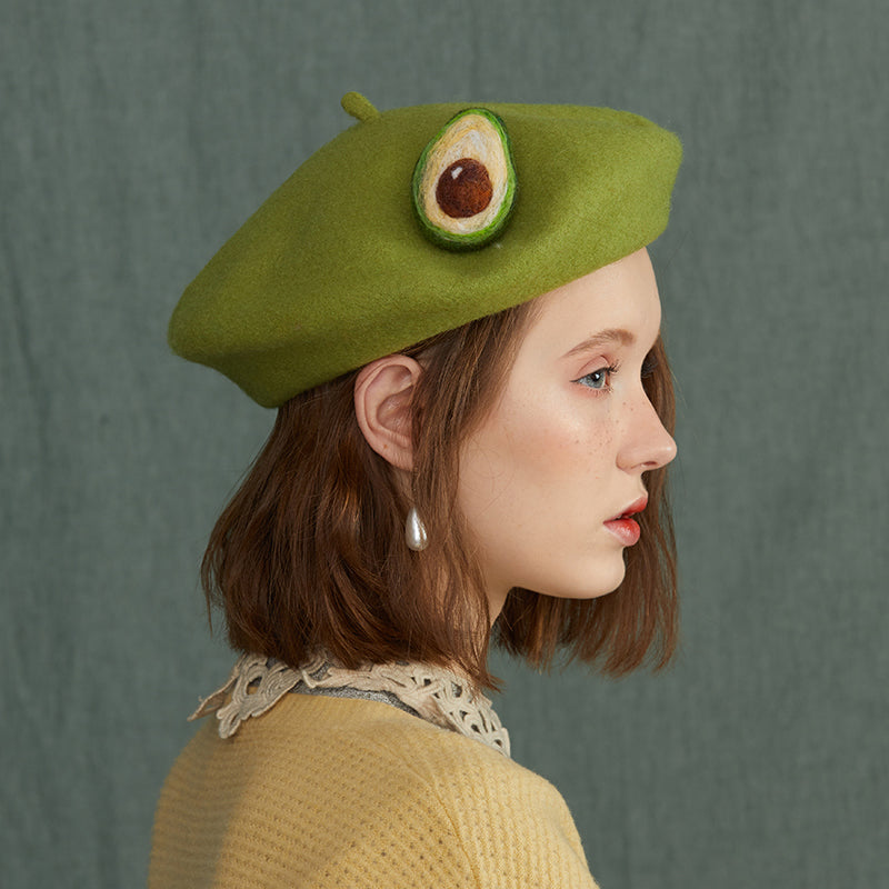 Avocado green beret KF9594