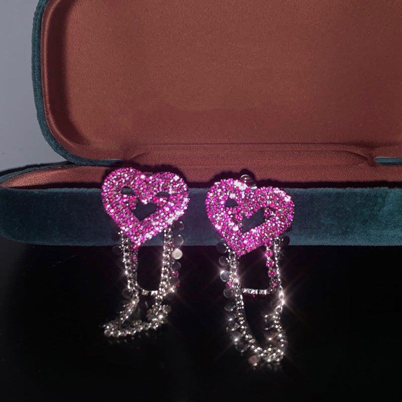 Pink Love Earrings KF81609