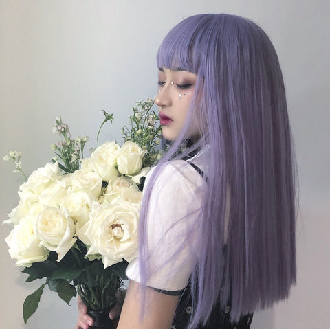 Purple wig KF7511