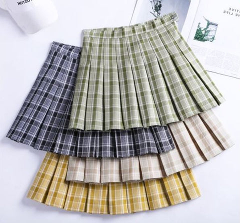 Avocado Pleated Skirt KF9456
