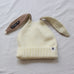Rabbit ears woolen hat KF81551