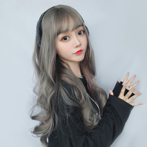 Gradient long roll wig KF9529