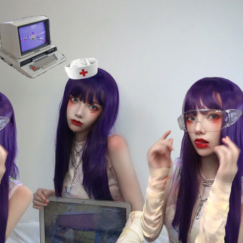 Purple wig  KF81117