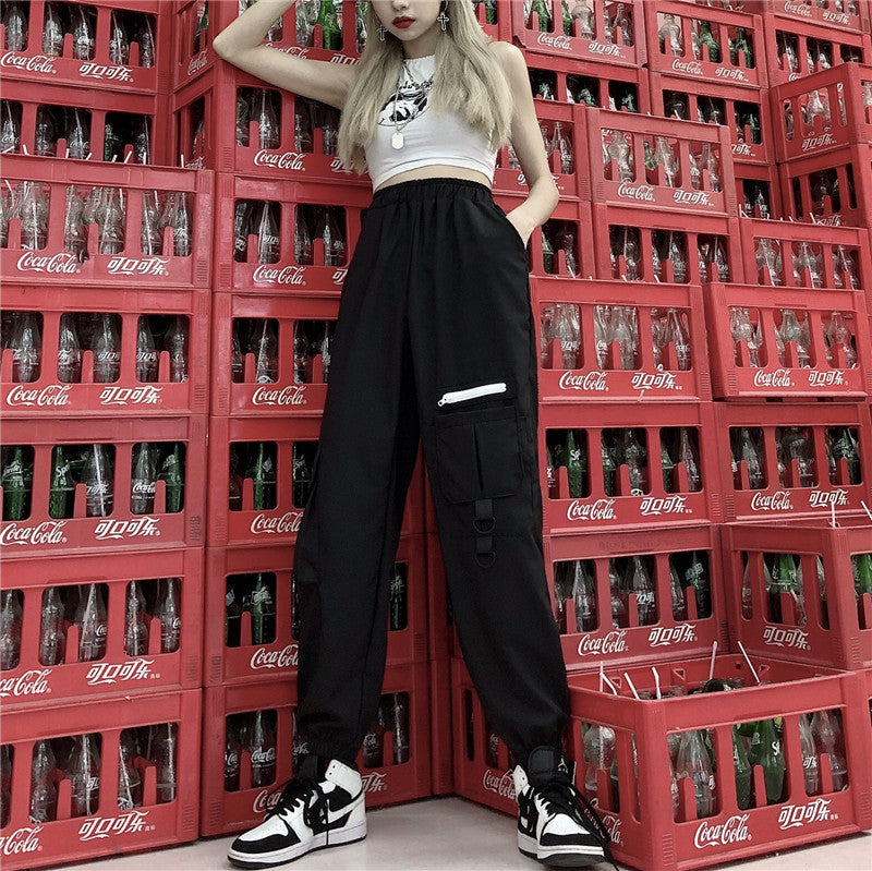 Ulzzang tooling pants KF9108