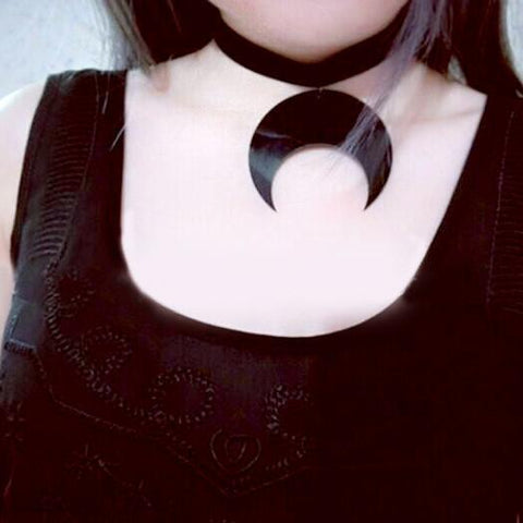 [Sailor Moon] Black Velvet Moon Choker  KF20019