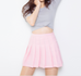 High waist pleated skirt KF50047