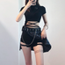 Hip Hop Irregular Stitching Plaid Skirt KF50514
