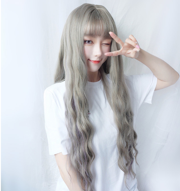 Cute Big Wave Long Roll Wig KF40378