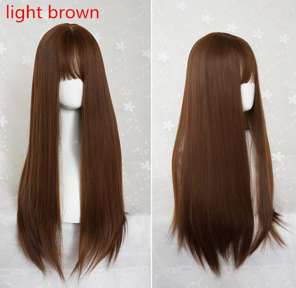 AIR BANGS LONG STRAIGHT WIG  KF40428