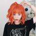 Bright orange wig KF90122