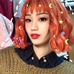 Bright orange wig KF90153