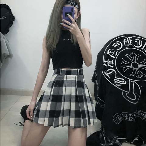 Ulzzang plaid skirt KF90277