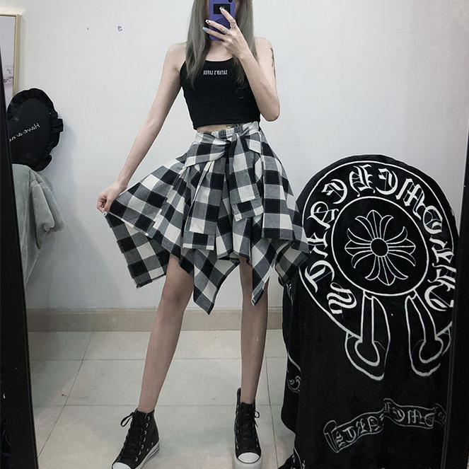 Ulzzang irregular skirt KF90278