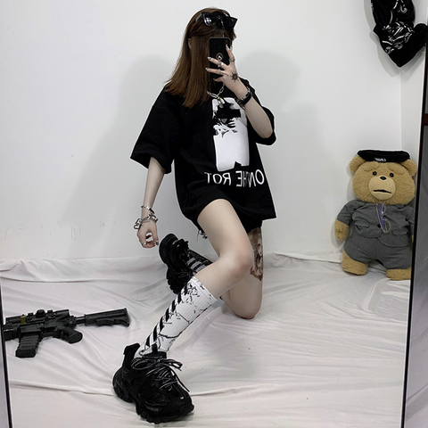 Fashion black and white socks KF90442